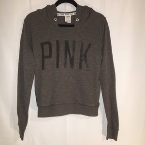VS PINK | SMALL | HOODIE | GRAY AND BLACK